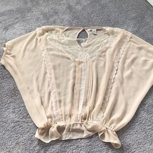 Beige lace top. See details for more!